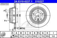 24.0310-0227.1 ATE - TARCZA HAMULCOWA Tarcza ham./ATE-POWER DISC/ /ATE/