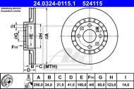 24.0324-0115.1 ATE - TARCZA HAMULC. OPEL ASTRA  91-00, VECTRA