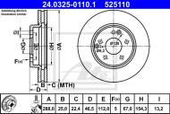 24.0325-0110.1 ATE - TARCZA HAM. POWER DISC MERCEDES W210 E-KLASA 95-02