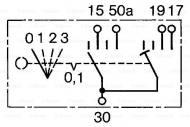 0 342 315 001 - Przełącznik ukł.ogrzew.wstepnego /BOSCH/
