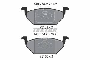 2313001 TXR - KLOCKI HAMULCOWE Klocki ham.VW GOLF IV,SEAT 99- przód /TEXTAR/