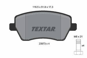 2397301 TXR - KLOCKI HAMULCOWE Klocki ham.NISSAN MICRA 03- /TEXTAR/