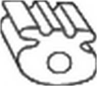 255-837 BOSAL - Wieszak tłumika OPEL VECTRA A 88-95 /BOSAL/