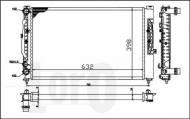 053-017-0056 ABAK - CHŁODNICA WODY /LORO/ VW PASSAT (B5) 10/ 96-10/00