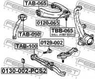 0130-002-PCS2 FEBEST - MIMOSRÓD-SRUBA KP.2 SZT. TOYOTA CRESTA GX90,JZX9#,LX90,SX90
