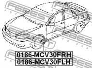 0186-MCV30FLH FEBEST - CHLAPACZ PRZEDNI LEWY TOYOTA CAMRY ACV3 2001.09-2006.01 JP
