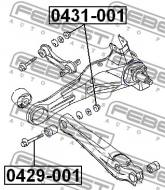 0431-001 FEBEST - NAKRĘTKA MITSUBISHI LANCER,LANCER CEDIA CS,CT 2000.03-2009.0