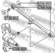 0729-002 FEBEST - ŚRUBA Z MIMOŚRODEM SUZUKI BALENO/ESTEEM SY413/SY415/SY416/SY