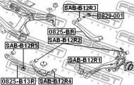 0829-001 FEBEST - ŚRUBA Z MIMOŚRODEM SUBARU LEGACY B12 1998.04-2003.06 EL