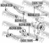 1629-164 FEBEST - ŚRUBA Z MIMOŚRODEM MERCEDES BENZ ML-CLASS 164 2004-2011
