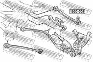 1930-004 FEBEST - MIMOŚRÓD-PODKŁADKA BMW X3 E83 2003-2006 ECE