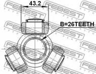 2716-S80T FEBEST - KRZYŻAK PRZEGUBU 26X43.2 VOLVO S80 2007-