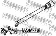 ASM-76 FEBEST - KRZYŻAK WAŁU NAPĘDOWEGO MITSUBISHI CHALLENGER K90 1996.05-20