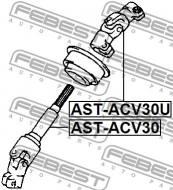 AST-ACV30U FEBEST - WAŁ NAPĘDOWY TOYOTA CAMRY (JPP) ACV30,MCV3 2001.07-2006.01 U