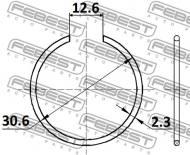 CC-1-30X2 FEBEST - PIERŚCIEŃ USZCZELNIAJĄCY MITSUBISHI CHALLENGER K90 1996.05-2
