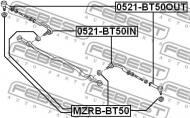 MZRB-BT50 FEBEST - OSŁONA GUM.KOŃCÓWKI DRĄŻKA MAZDA BT-50 UN 2006-2008 EU