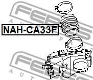 NAH-CA33 FEBEST - KRÓCIEC FILTRA POWIETRZA NISSAN MAXIMA CA33 2000.01-2006.03