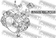 RINGOL-031-PCS10 FEBEST - PIERŚCIEŃ USZCZELNIAJĄCY, JEDNOSTKA STER VOLVO S80 2007-