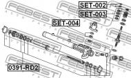SET-003 FEBEST - REPERATURKA PRZKŁADNI KIEROWNICZEJ HONDA CR-V RD1 1996-2001