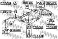 TSB-080 FEBEST - PODUSZKA TOYOTA LAND CRUISER FJ80,HDJ80,HZJ80,FZJ80 1990.01-