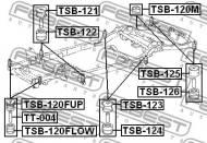 TSB-121 FEBEST - PODUSZKA TOYOTA LAND CRUISER PRADO GRJ12,KDJ12,RZJ12,TRJ12,V
