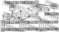 TSB-LC107 FEBEST - PODUSZKA TOYOTA LAND CRUISER 100 HDJ100,UZJ100 1998.01-2007.