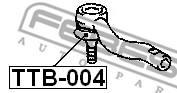 TTB-004 FEBEST - OSŁONA KOŃCÓWKI DRĄŻKA TOYOTA CRESTA GX90,JZX9,LX90,SX90 199