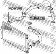 VLAH-001 FEBEST - PRZEWÓD FILTRA POWIETRZA VOLVO XC90 2003-