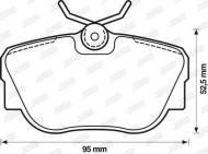 571352D JURID - KLOCKI HAMULCOWE BMW 3 82-92 /E30/                            $