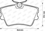 571875J JURID - KLOCKI HAMULCOWE VW T4  CARAVELLE 95-