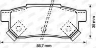 572137J JURID - KLOCKI HAMULCOWE ROVER; HONDA CONCERTO   Z CZUJN.             $