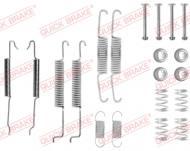 105-0680 QB - ZESTAW SPRĘŻYN SZCZĘK HAMULCOWYCH ZESTAW MONTAŻOWY GOLF 3/4 DO SZCZĘK 200X40 VW /T/ +ABS A80/F