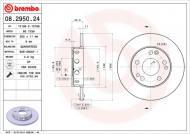 08.2950.24 BREMBO - TARCZA HAMULC. MERCEDES W201 190  82-93