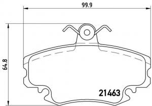 P68008 BREMBO - KLOCKI HAMULCOWE RENAULT                              4/1/6