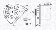 MAN300 MM - ALTERNATOR 55A/12V FIAT PANDA TIPO UNO  -
