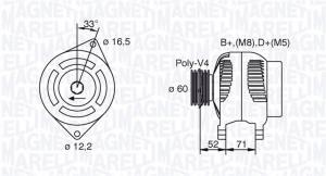 MAN801 MM - ALTERNATOR 65A/12V FIAT SIENA/PALIO 1,4 97->